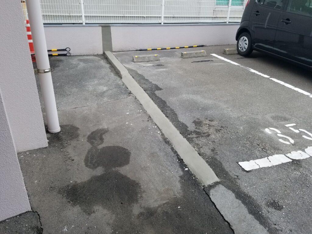 古賀市 駐車場 ブロック塀解体