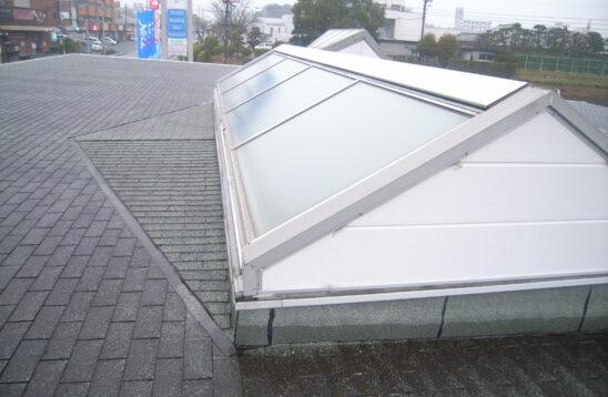 屋根 トップライトガラス 雨漏り修理