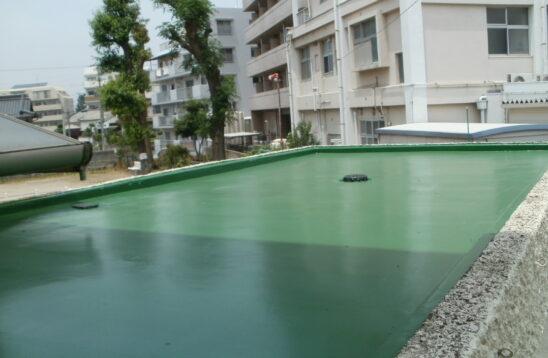 玄関庇屋根 防水工事